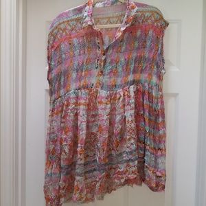 Free People multi colored top